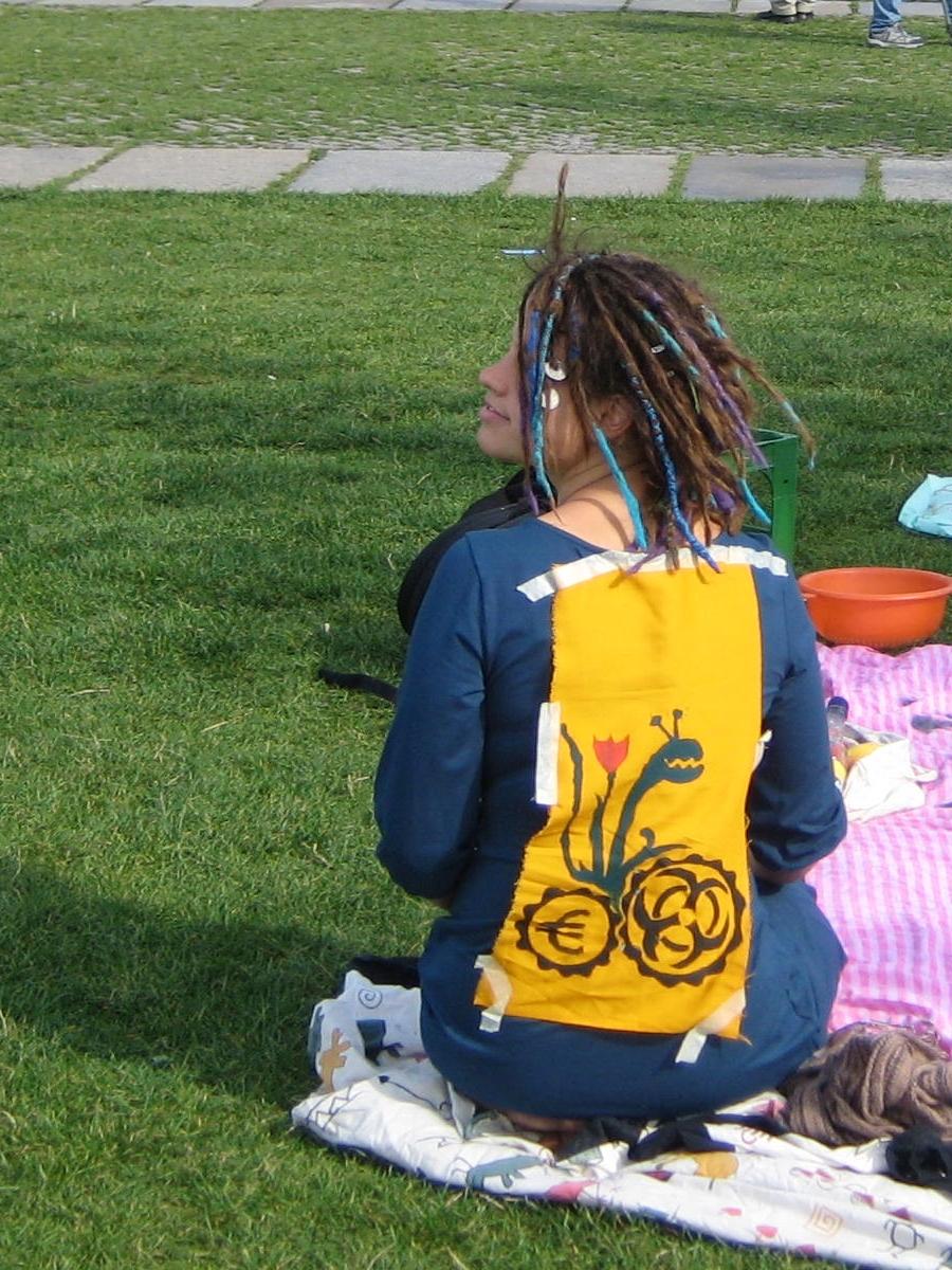 Bild von Franziska beim Guerilla-Picknick