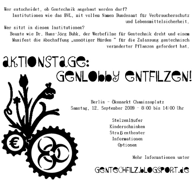 Flyer: Ökomarkt Berlin